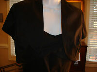 NEW ALEX EVENINGS Black Cocktail Dress With Jacket Size 14 Mother of Bride $178