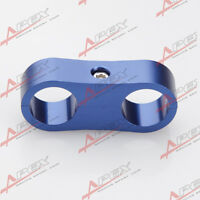 AN -6 (AN6) 13MM Blue Braided Hose Separator Clamp Fitting Adapter (Fuel Oil)