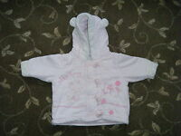 NEXT BABY - GIRL PINK CORD COAT - AGE 0 -3 MONTHS