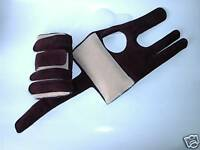 Leather Wrist Support Wrist Guards ( Coffee ) XS