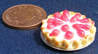 1:12 Scale Cherry Flan Dolls House Miniature Kitchen Dessert Accessory D7