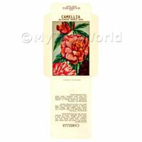 2 Dolls House Flower Seed Packets - Camellia
