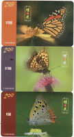 B03107 China phone cards Butterfly 3pcs