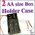 1 x 2 AA 2A Cells Battery (3V) Clip Holder Box Case C1