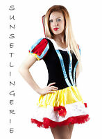 Snow white fancy dress costume princess fairy tale party dress outfit 8-10 S