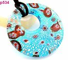Fashion abstract Baroque circularity Murano Lampwork Glass Pendant Necklace J5P4
