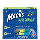 Mack's EAR SEALS Swimming Noise Shoot Nascar EARPLUG Washable Detachable Cord 11
