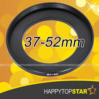 37mm to 52mm 37-52 mm Step-Up Lens Filter Ring Adapter for ND UV CPL Star Filter