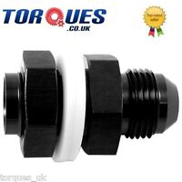 AN-6 6AN Fuel Cell Tank Adapter Bulkhead Fitting Black