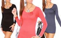 "New Collection - Nice Tunic Mini Dress with Rose ""Alisa"" 4009"