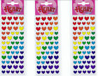 3 PKS OF MULTI COLOUR HEART STICKERS,TEACHERS,CRAFT