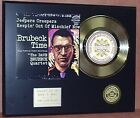 Dave Brubeck Quartet - 24k Gold Record Display Limited Edition - USA Ships Free