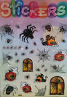 SPIDER SPIDERWEB HAUNTED STICKERS,CRAFT,KIDS,TEACHERS AID,SCHOOL