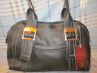 NEW Tignanello Boldly Buckled Black Leather Satchel/Tote Very NICE!!