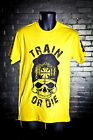 DOHERTYS GYM AUSTRALIA TRAIN OR DIE T-SHIRT BODYBUILDING