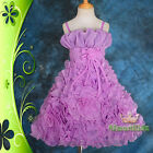 Wedding Flower Girls Bridesmaid Party Occasion Holiday Dress Up Sz 3-10 FG132