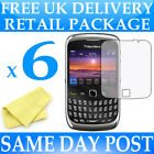 6 x Anti Scratch Screen Protectors for Blackberry 9300 Curve - Display Savers