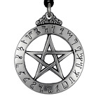 Large Theban Pentacle jewelry pentagram pendant Hermetic Necklace Wiccan Pagan