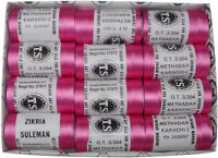 Box of 12 Pink Rayon Machine Embroidery Thread Spools