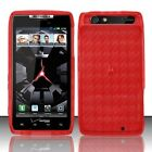 Accessory for Verizon Motorola Droid RAZR XT912 Red Hard TPU Phone Skin Case