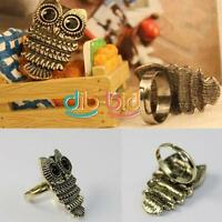 New SF Lady Exquisite Ancient Adjustable Metal Owl Retro Style Ring Gift #1