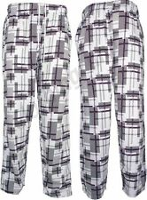 Mens Square Baggy Lounge Pyjamas Nightwear Gym Elasticated Tracksuit Trousers