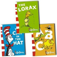 Dr Seuss Collection 3 Books Set Pack ABC, Cat in the hat, The Lorax Movie New HB