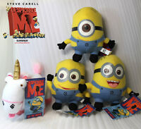 """4X Despicable Me Plush Toy Minions and Unicorn Soft Doll Figure Teddy NWT 6"""""""