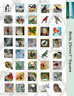 """40 Bird Images 1"""" Square Collage Paper 8.5"""" x 11"""" -For Glass Tile Pendants"""