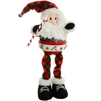 "18.5"" Standing Santa Claus With Candy Cane Christmas Room Decoration Ornament"