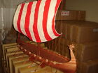 Viking Dragon boat high quality hand made wooden model ship 40
