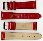 Invicta Genuine Unisex 24mm Red Pearlized Shiny Leather Watch Strap IS312 NEW