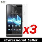 3x Clear LCD Screen Protector Film Guard Shield For Sony Ericsson Xperia S LT26i