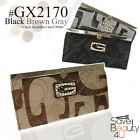 New Fashion Signature G Style Accordion Clutch Wallet Checkbook Organizer Wallet