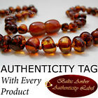 COGNAC Baltic Amber Baby Teething Necklace
