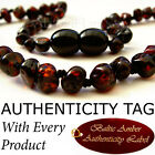 (OUT OF STOCK) RARE CRIMSON BLACK Baltic Amber Baby Teething Necklace