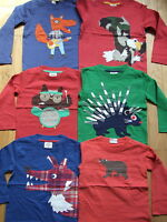 BODEN BOYS LONG SLEEVED APPLIQUE TOP VARIOUS STYLES BNWOT AGES 1-12