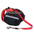 Leash Saddle Bag 4-Pocket Fits Flexi Medium & Large Retractable Dog Leashes