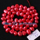 5-7MM FREEFORM RED FRESHWATER CULTURED PEARL SPACER LOOSE BEADS STRAND 15""