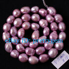 8-10MM FREEFORM LILAC FRESHWATER CULTURED PEARL SPACER LOOSE BEADS STRAND 15""