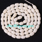 3X5MM NATURAL COLUMN SHAPE WHITE CORAL GEMSTONE SPACER LOOSE BEADS STRAND 15""