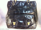 Coach Poppy Leather Pushlock Tote Black