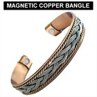 New Magnetic Therapy Pure Copper Bracelet Bangle 2 Designs for Arthritis Pain