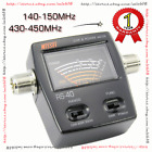 SWR Watt Power Meter NISSEI RS-40 for HAM Mobile Radio MFJ-844 VHF UHF 200W