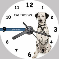 Personalised Dog CD Clock - Dalmation - with FREE stand