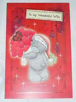 WIFE CHRISTMAS CARD ME TO YOU TATTY TEDDY CUTE CARTE BLANCHE