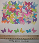 100 MARTHA STEWART CLASSIC BUTTERFLY PAPER PUNCHES/CUT OUTS/EMBELLISHMENTS
