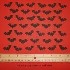 100 MARTHA STEWART HALLOWEEN BLACK BAT PAPER PUNCHES/ CUT OUTS/ EMBELLISHMENTS