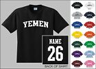 Country Of Yemen Custom Name & Number Personalized Youth T-shirt