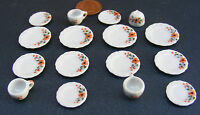 1:12 Scale 16 Piece Hand Painted Ceramic Tea Set Dolls House Miniature 20 Dining